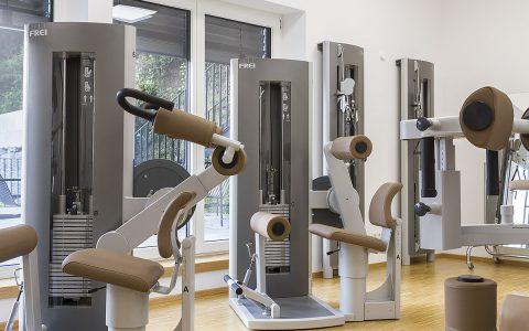 Fitnessraum der Praxis Rogg